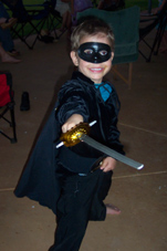Daniel dressedup as Zorro for a birthday party