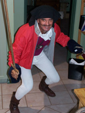 Daddy dresses up as Captain James Cook
