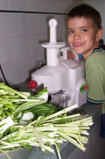 Daniel making juice