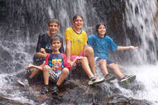 kids under waterfall 2007