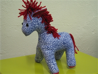 soft toy – pony made by Nomi