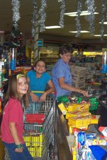 shopping for Christmas hampers with the Salvos