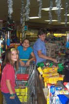 Shopping for Christmas Hampers with Salvation Army